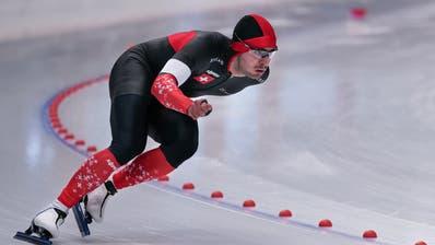Der Eisschnellläufer Oliver Grob ist zweimal nicht zu schlagen