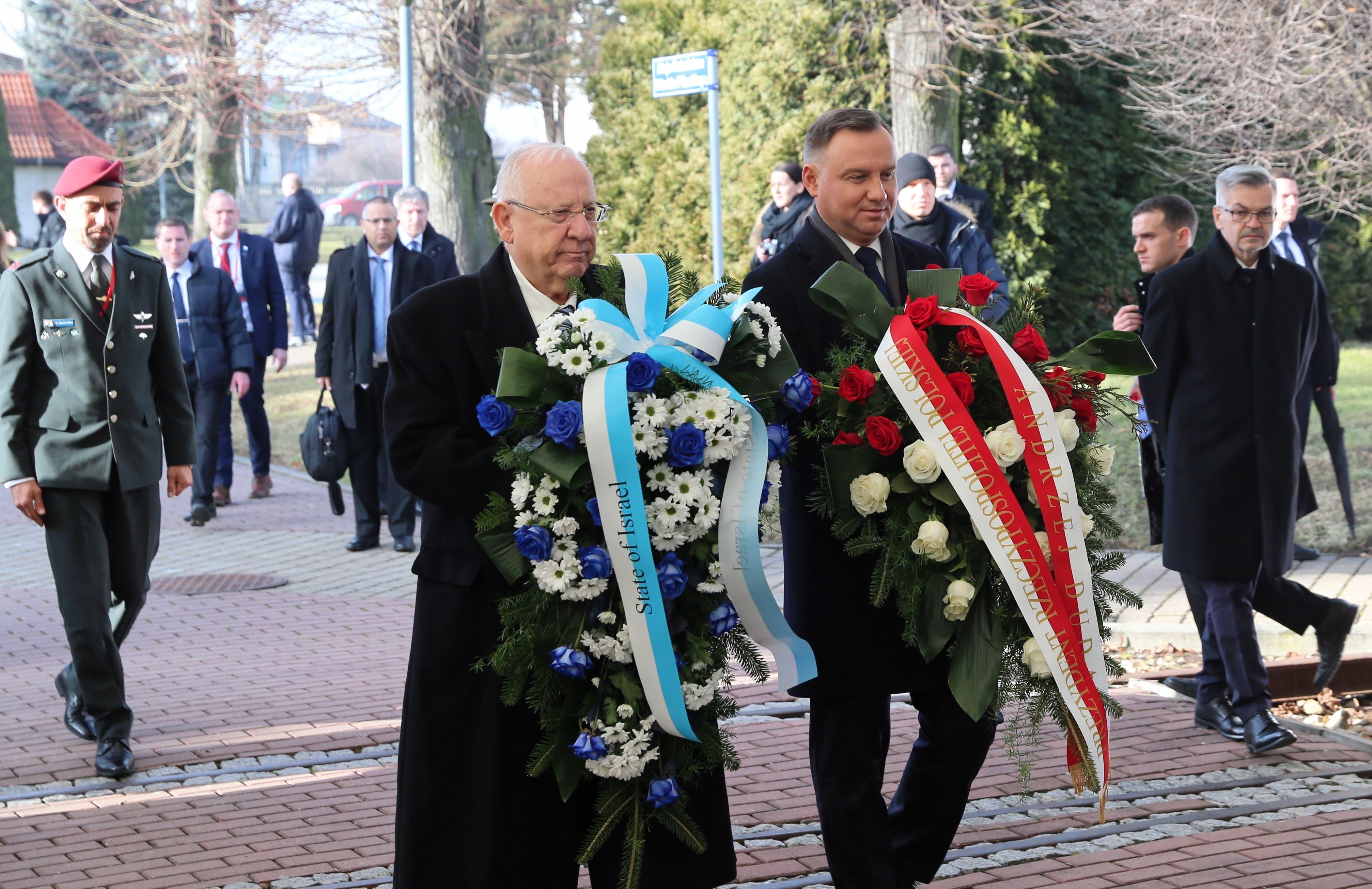 Israels Präsident Reuven Rivlin (links) und Polens Präsident Andrzej  Duda.