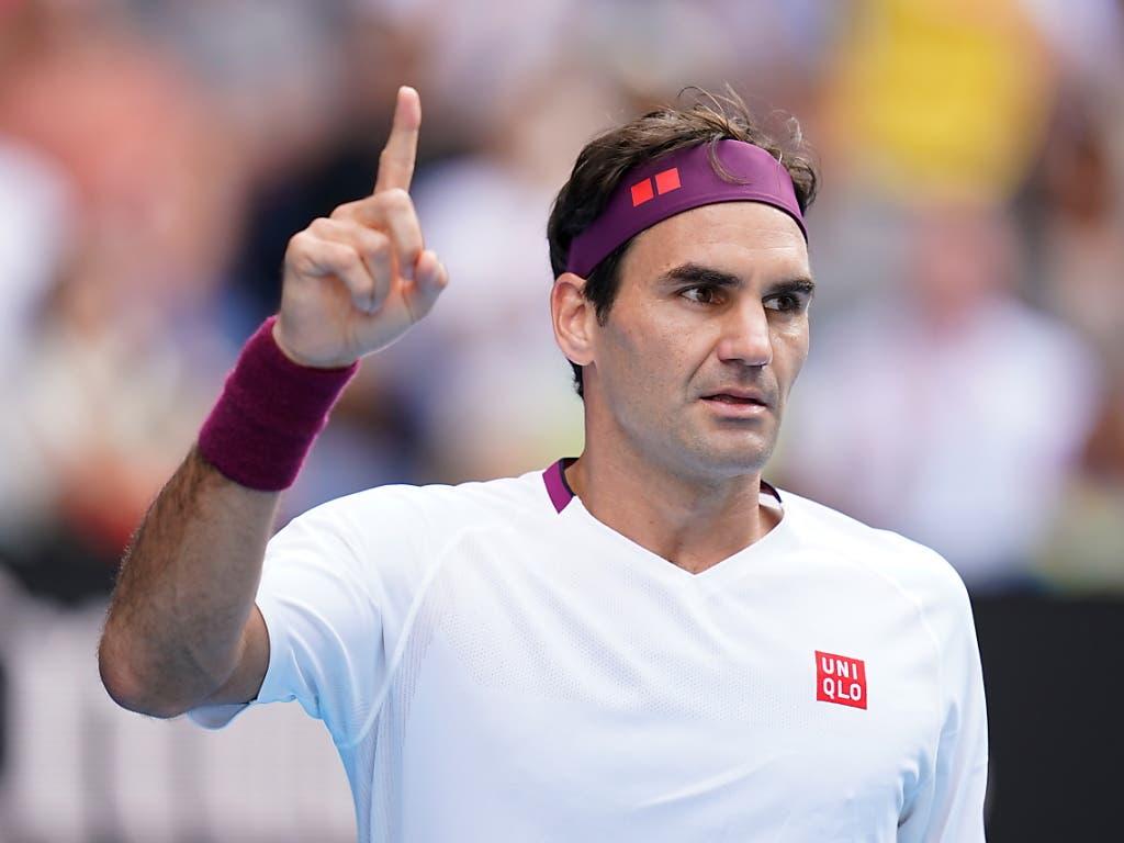 Roger Federer nach dem vierten Satz, in dem er sieben Matchbällen abgewehrte