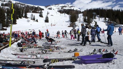 Leichte Beute: Skis werden häufig in Skigebieten gestohlen. (Keystone)