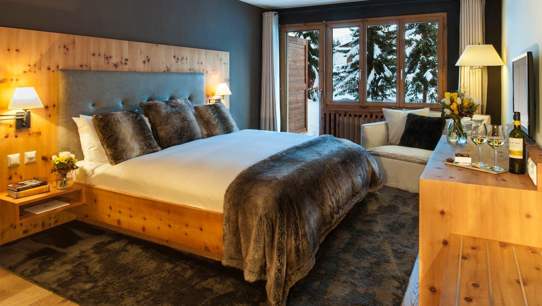 Deluxe Zimmer (Quelle:LA VAL Bergspa Hotel Brigels)