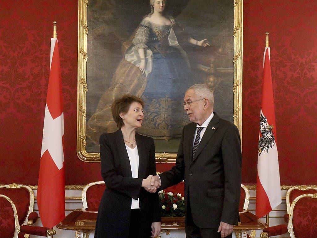 Bundespräsidentin Simonetta Sommaruga trifft den österreichischen Bundespräsidenten Alexander Van der Bellen.