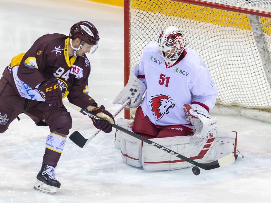 Lausannes Goalie Tobias Stephan (38 Paraden) machte den Laden dicht - vierter Shutout in dieser Saison