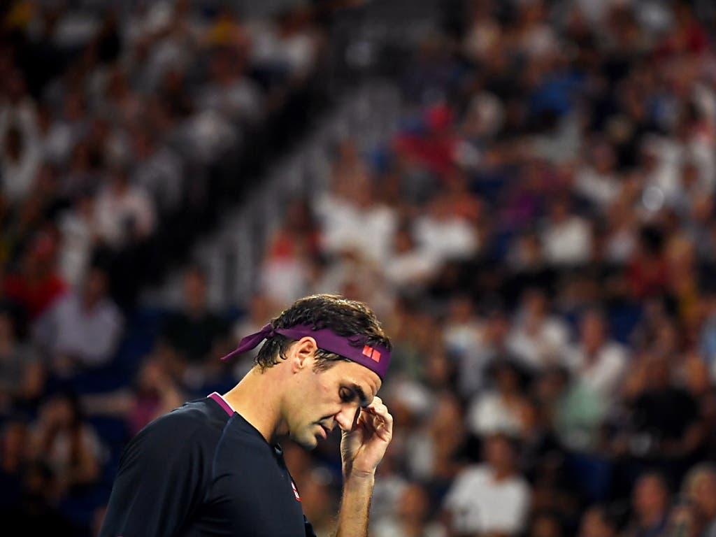 Kein Exploit: Der angeschlagene Roger Federer bleibt im Halbfinal-Duell mit Novak Djokovic ohne Chance