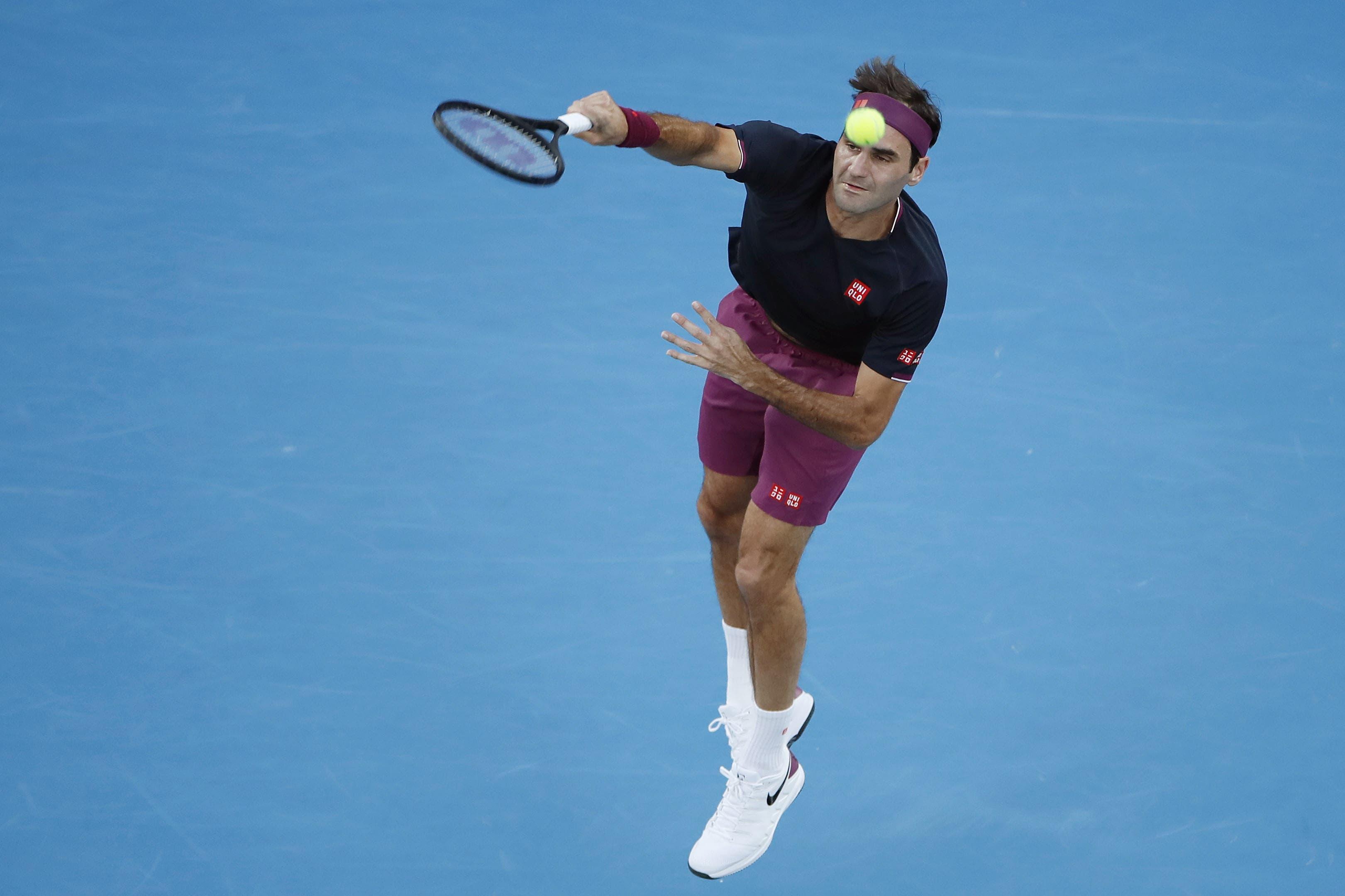 Roger Federer tut sich schwer.