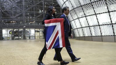 Abmontiert: Der «Union Jack» wird in Brüssel nicht mehr länger zu sehen sein. (Keystone)