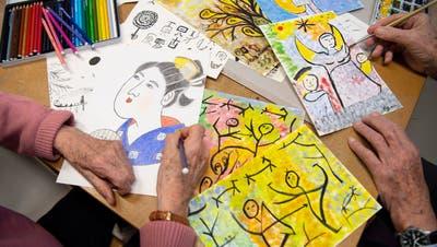 Das Malen hilft manchen Menschen aus einer Depression. (Ralph Ribi)