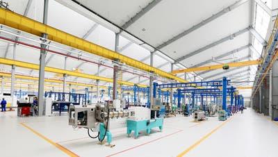 Das Werk von Bühler in Changzhou, kurz nach seiner Eröffnung im Frühling 2018. Bühler ist in China seit 1983 präsent. ((Bild: PD))