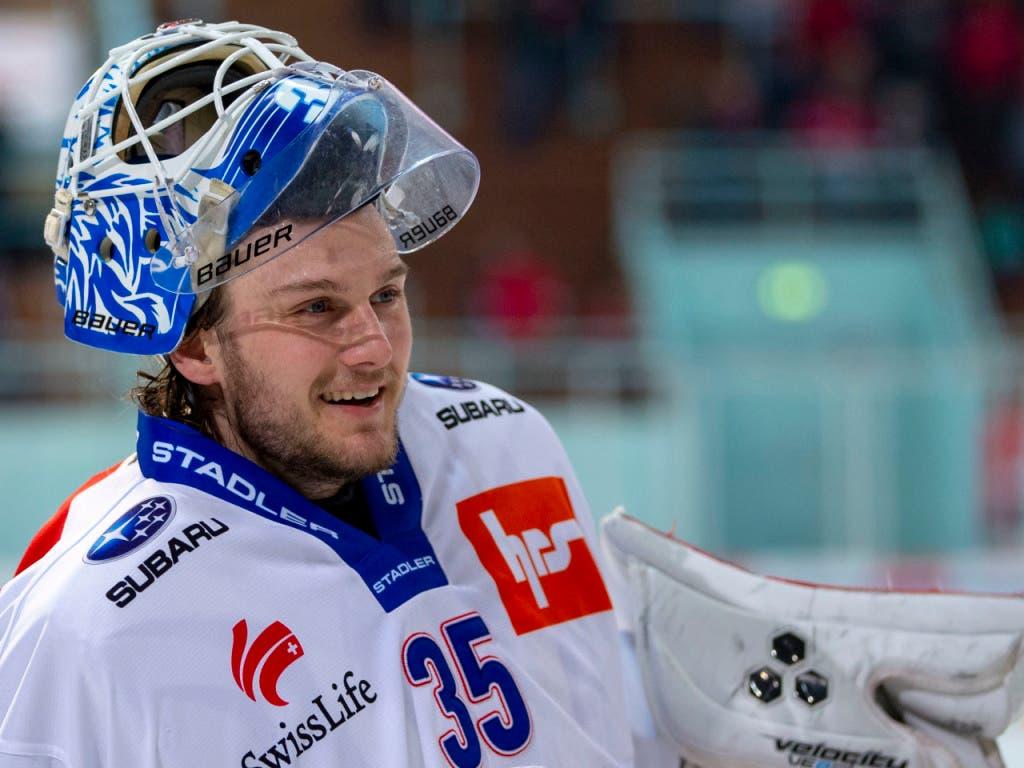 Daniel Guntern - erster Sieg mit den ZSC Lions im ersten Einsatz von Anfang an in dieser Saison