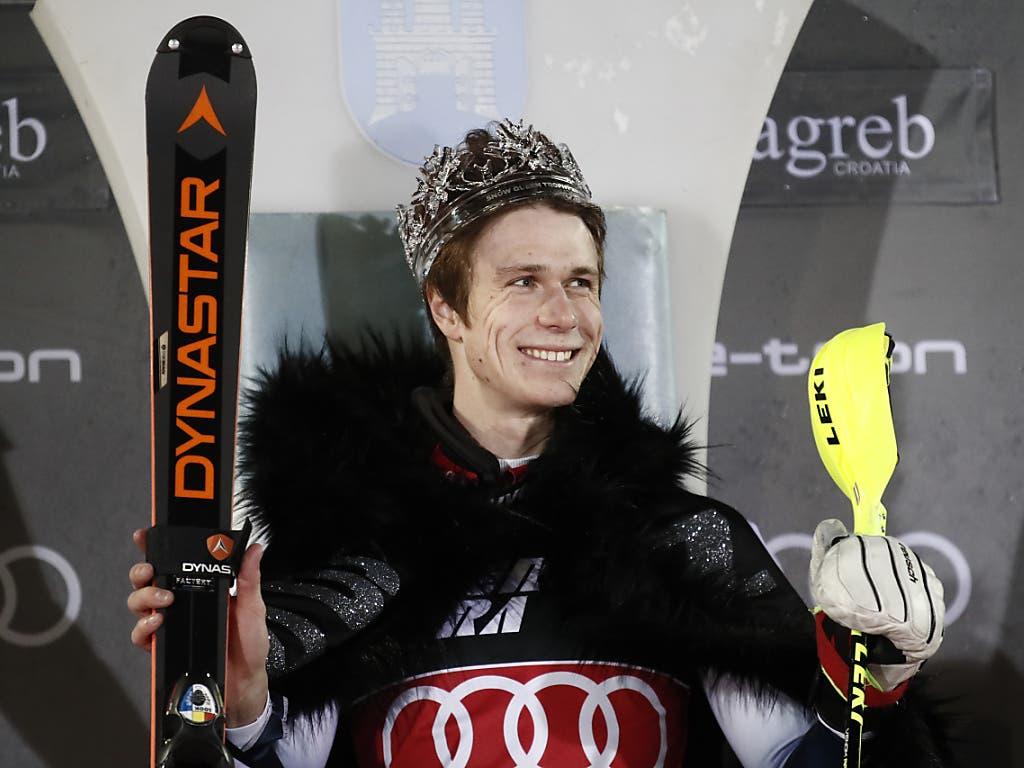 Clément Noël liess sich zum Slalom-König von Zagreb küren