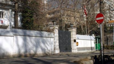 Blick auf die Schweizer Botschaft in der iranischen Hauptstad Teheran. (Keystone)