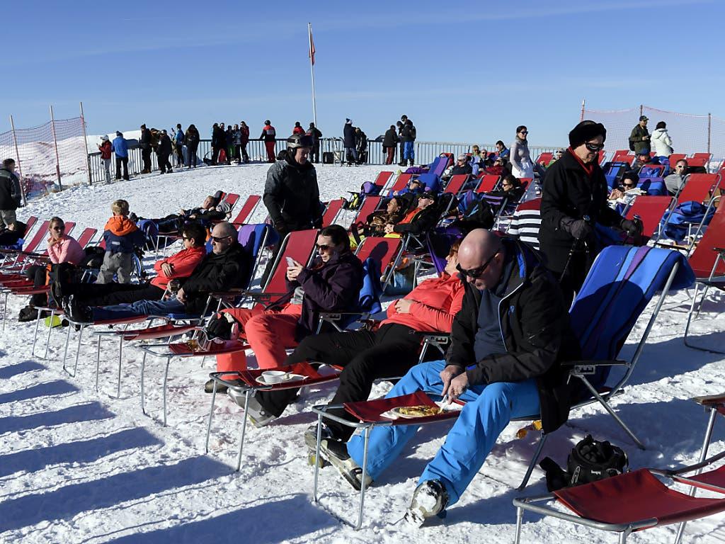 «Sünnele» geht auch ohne körperliche Anstrengung: Jungfrau-Gebiet am 30. Dezember.