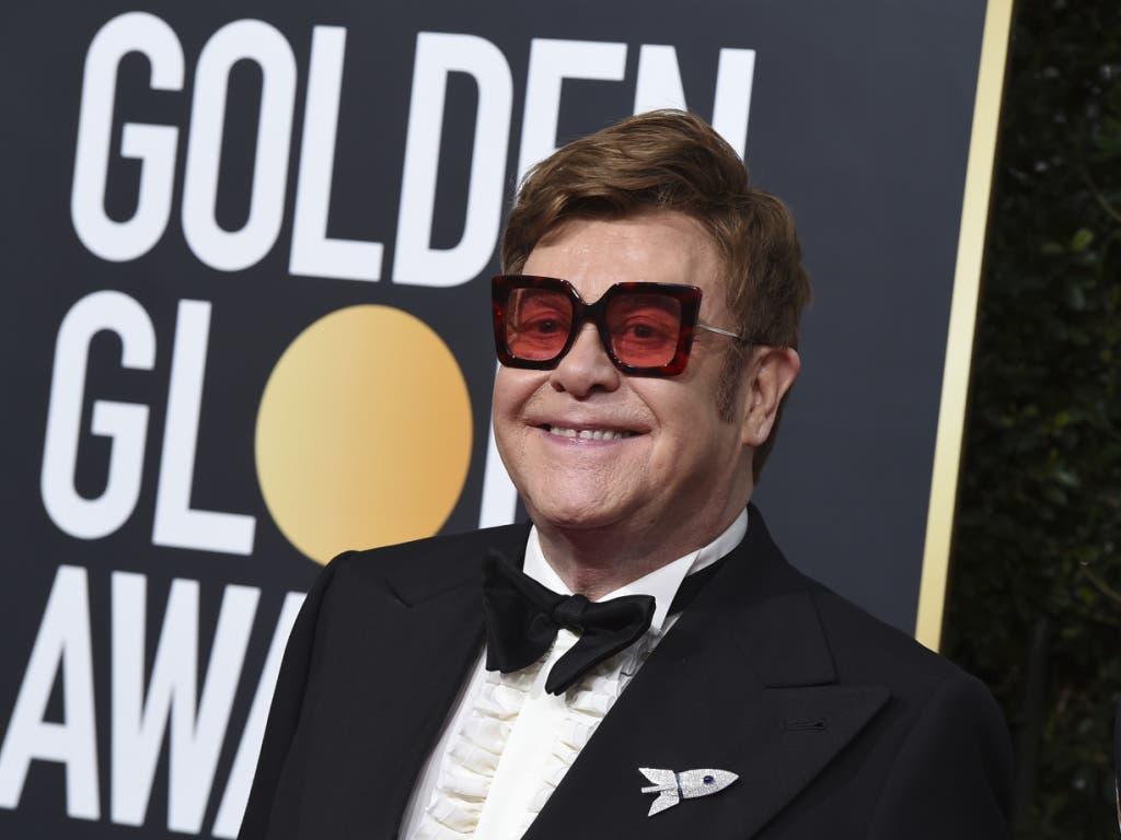 Die Brille von Elton John sorgte bei der 77. Verleihung der Golden Globes für Gesprächsstoff.