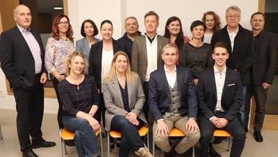 Die CVP-Kandidaten aus dem Bezirk Kreuzlingen mit Regierungsrätin Carmen Haag. ((Bild: pd))