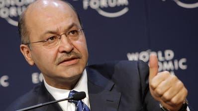 Der irakische Staatspräsident Barham Salihwird das World Economic Forum besuchen. (Keystone)