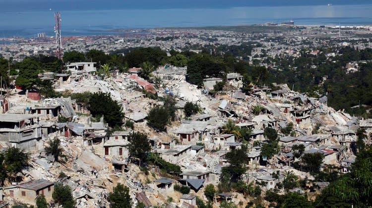 Haitis Hauptstadt Port-au-Prince nach dem Erdbeben vor zehn Jahren. (Eduardo Munoz/Reuters)