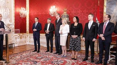 Neue Regierung in Österreich offiziell im Amt