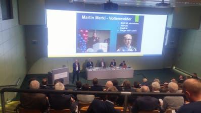 Martin Merki an der FDP-Parteiversammlung im Luzerner Kantonsspital. (Bild: Stefan Dähler(Luzern, 7. Januar 2020))