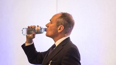 Ruag-Chef Urs Breitmeier an einer Pressekonferenz. (Photo:roger Gruetter, rogergruetter.com)