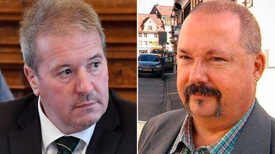 Zwei SVP-Männer, zwei Welten: Parteipräsident Walter Gartmann (links) und Kantonsrats-Kandidat Marcel Toeltl. (Bilder: Regina Kühne/Screenshot TVO)