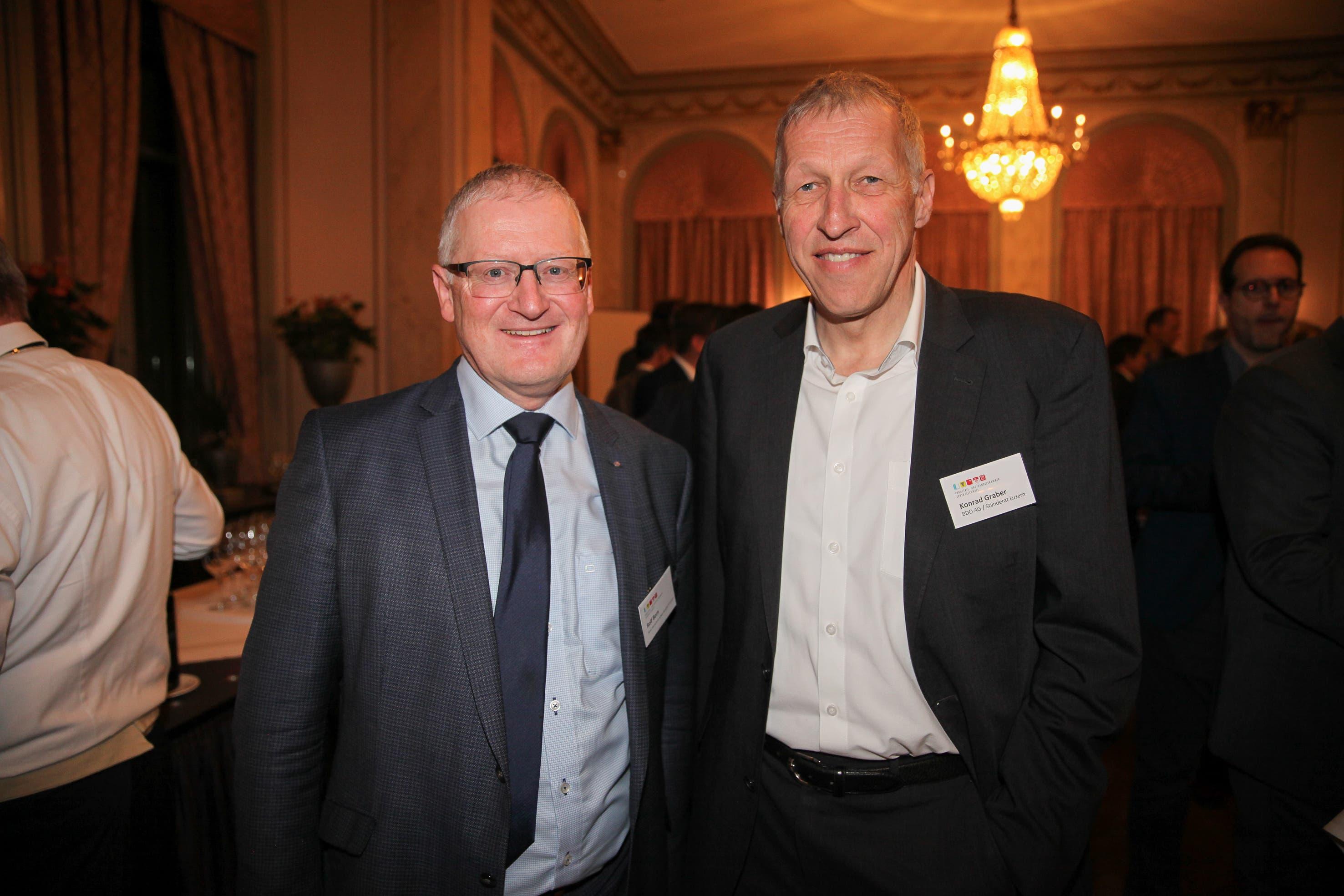 Rolf Born (IV Stelle Luzern) und Konrad Graber (BDO AG / Ständerat CVP / LU)