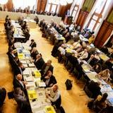 Der Thurgauer Grosse Rat bei einer Sitzung in Weinfelden. Die Sitze im Kantonsparlament sind begehrt. ((Bild: Donato Caspari))