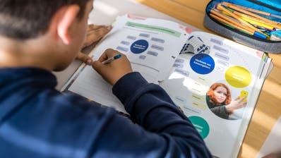 Insgesamt werden mehr Kinder als noch 2018/19 in Luzerner Volksschulen unterrichtet. Hier verwendet ein Schüler ein neues Lehrmittel, das WAH-Buch für Hauswirtschaft. (Bild: Philipp Schmidli, 27. September 2019)