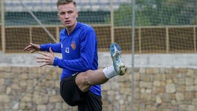 Jasper van der Werff am Donnerstag in seinem ersten Training als FCB-Spieler. (Freshfocus)