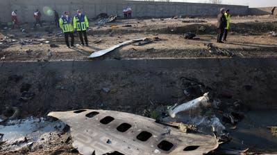 Die ukrainische Boeing 737-800 stürzte nahe des Imam-Khomeini-Flughafens in Teheran ab. (keystone-sda)