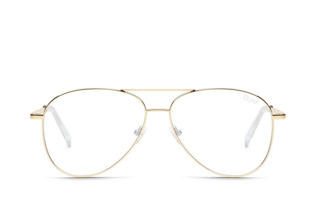 Mit einer Sehbrille im Pilot-Stil bewahrt man den Durchblick. Von Quay Australia, 55 Fr.