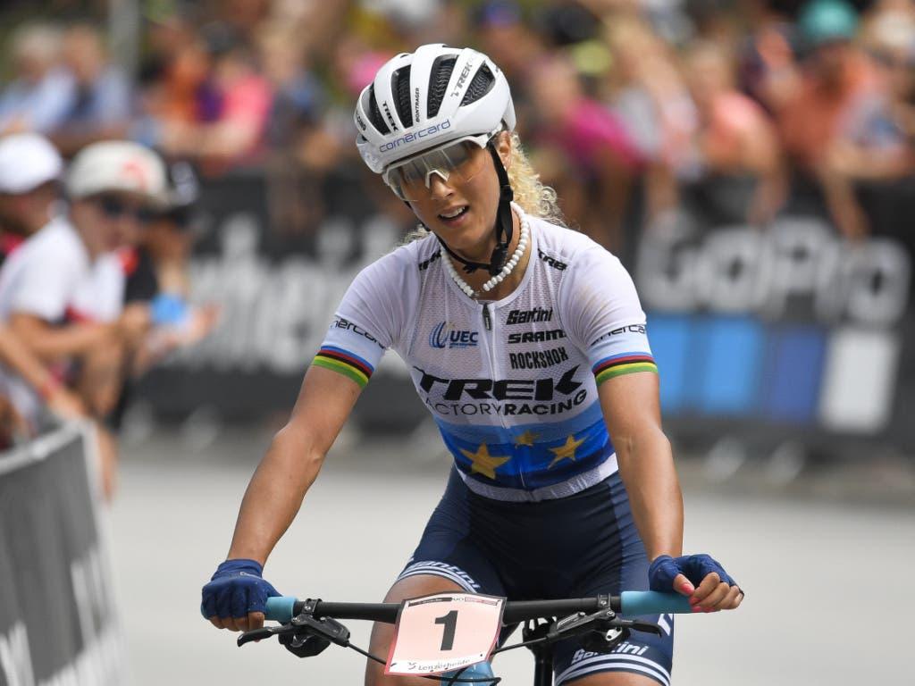Jolanda Neff kann in Tschechien nicht mit den Schnellsten mithalten.