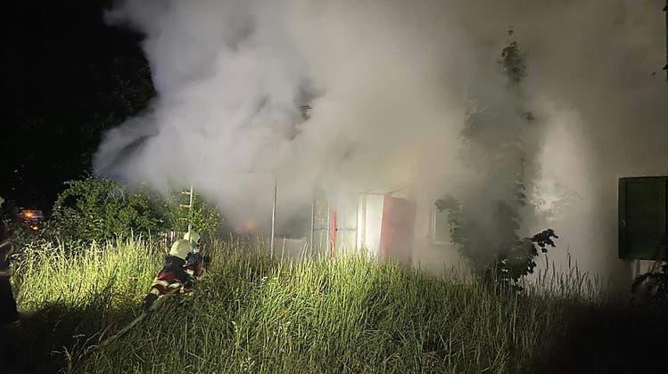 Nach Brand in Birr: Polizei ermittelt zwei Jugendliche
