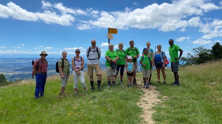 Naturfreunde Obergösgen auf dem Weg zum Bözingerberg