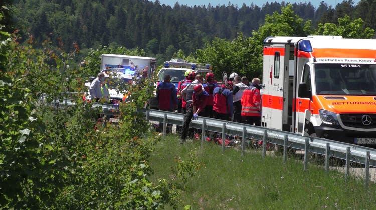 Töff-Fahrer und Begleiterin aus dem Aargau bei Unfall schwer verletzt