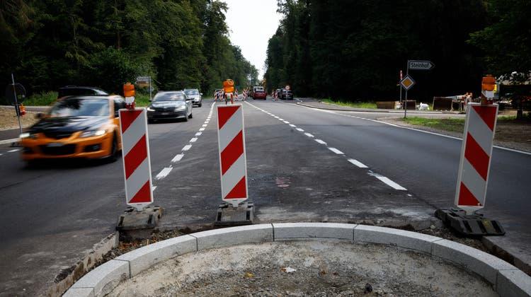 Die Kreuzung in Richtung Steinhof ist umgebaut