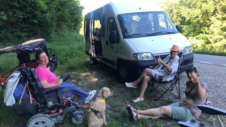 So erlebte die Recherswilerin die Tour de Suisse im Elektrorollstuhl