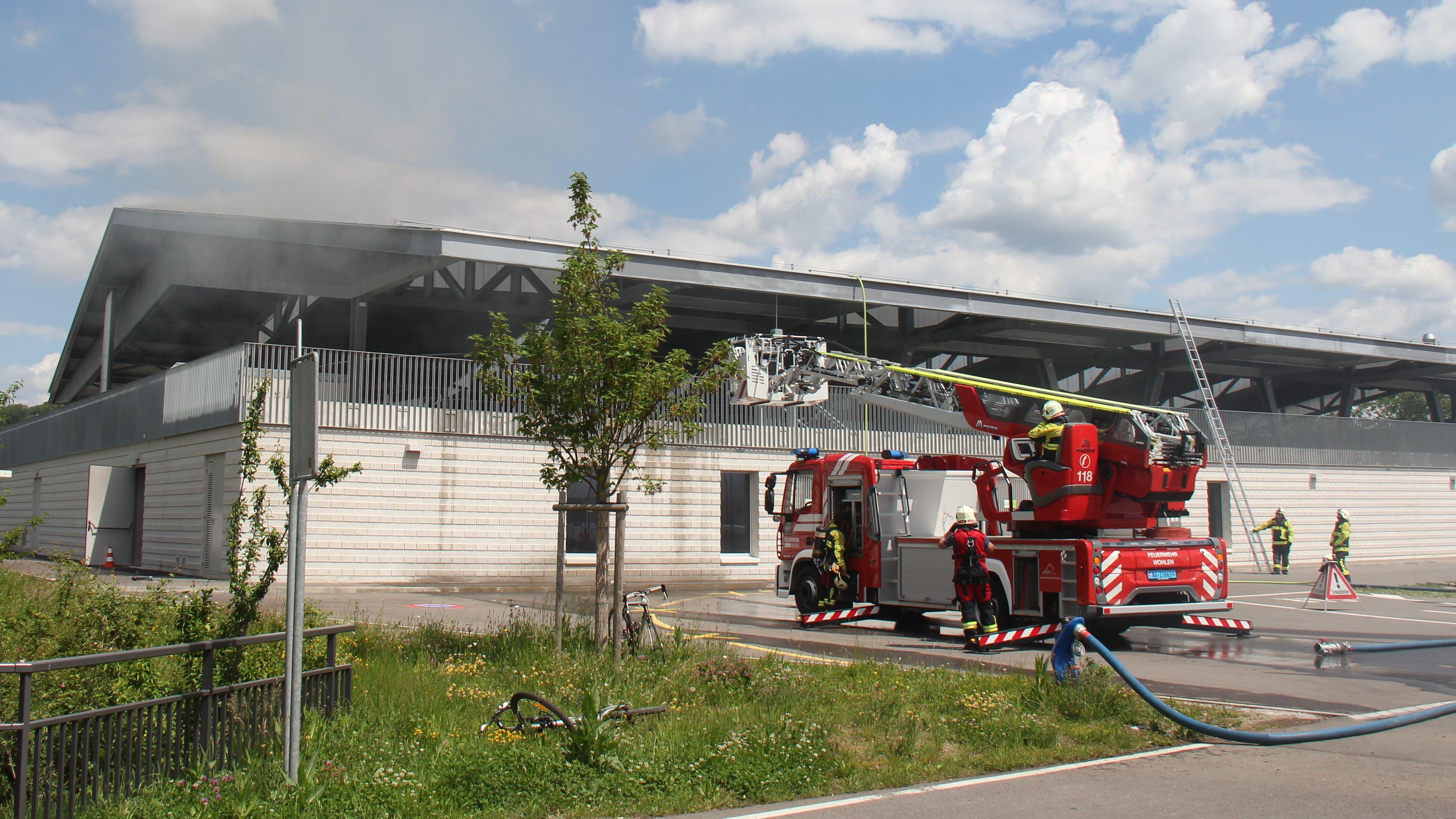 Brand beim Schüwo-Park in Wohlen