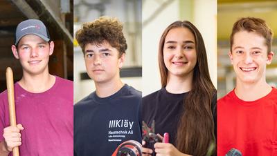«Man muss nun halt etwas selbständiger sein»: Vier Lehrlinge erzählen von ihrem Berufseinstieg