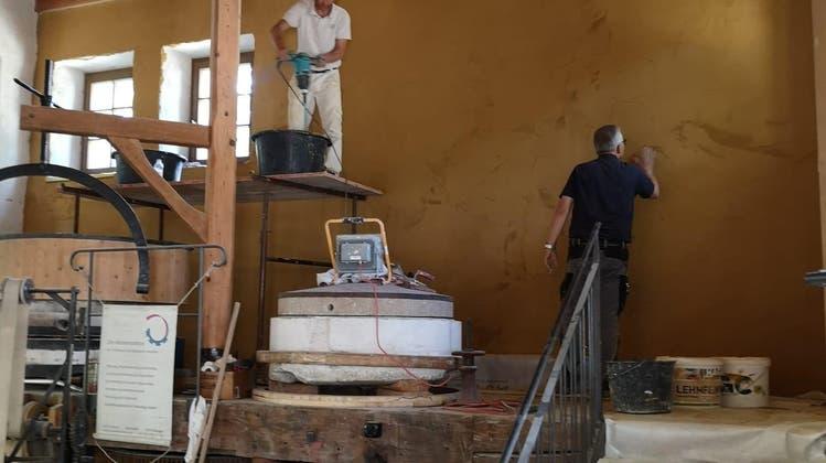Endlich wird aus der rekonstruierten Schlossmühle eine echte Mühle