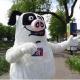 Mit kleinem Aufwand gegen Littering in Basel: Der Schweinehund bewacht die Stadt