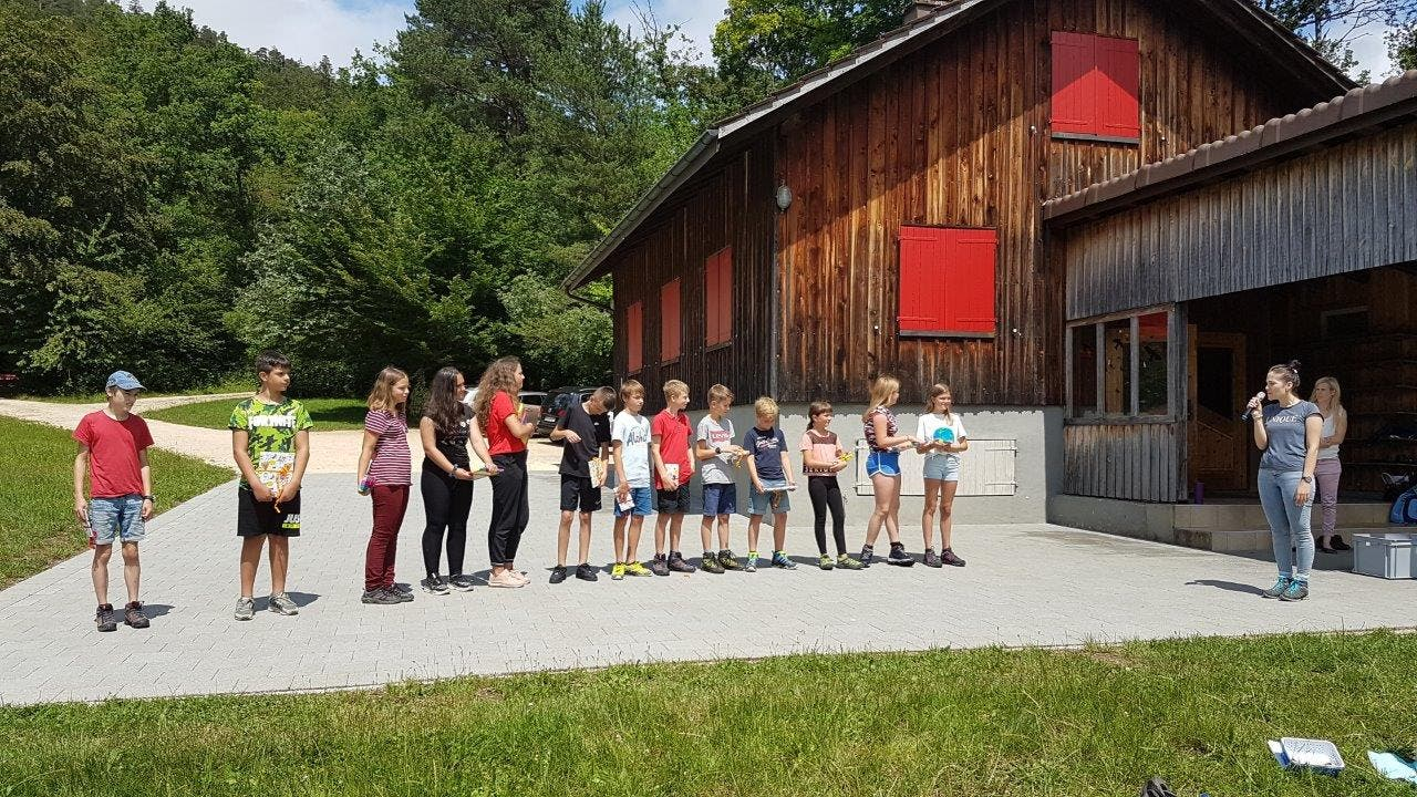 Für die 6. Klasse war es der letzte Auftritt an der Primarschule. Foto: Andrea Müller, Laupersdorf