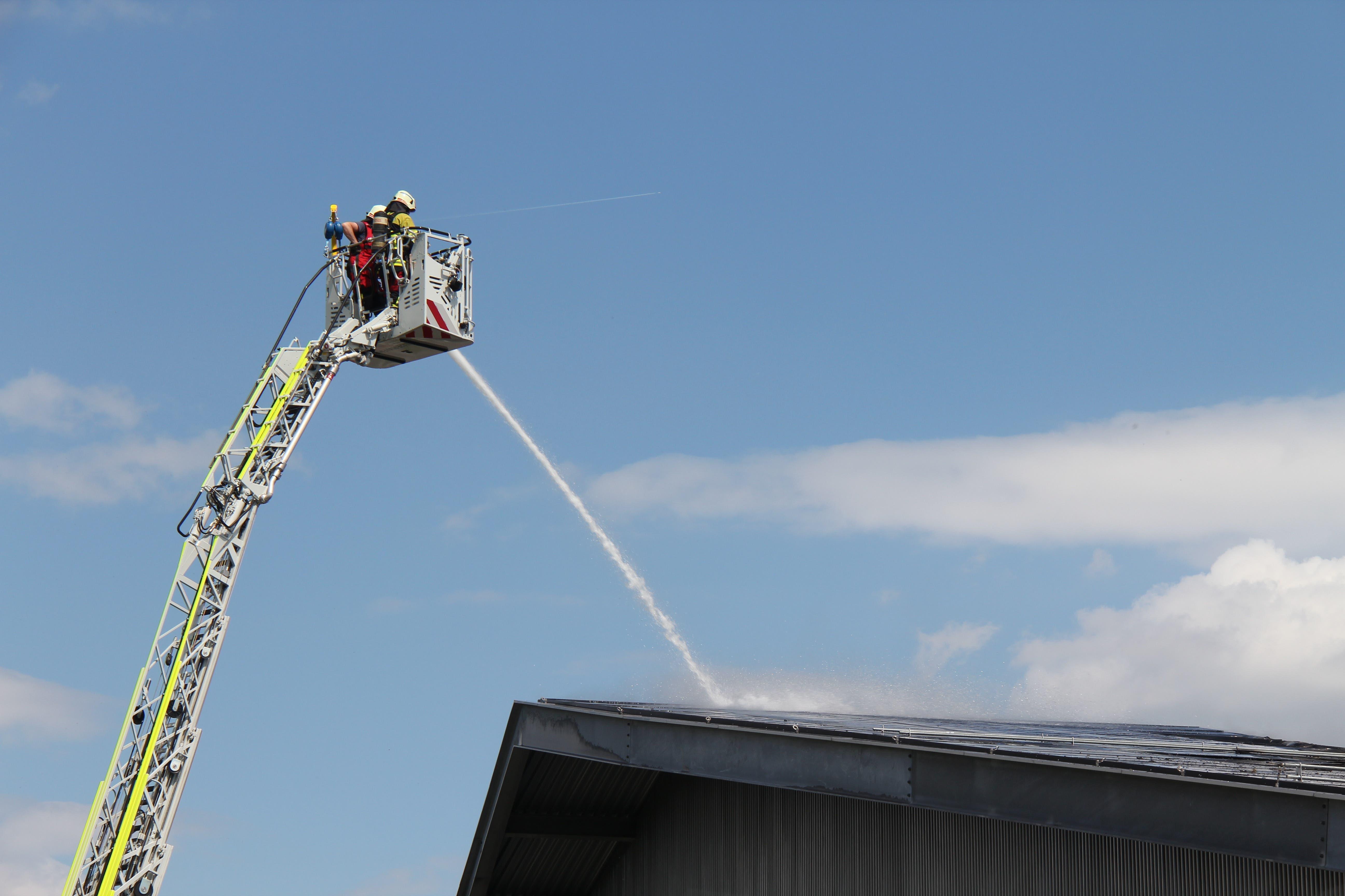 Die Feuerwehr Wohlen stand im Einsatz.