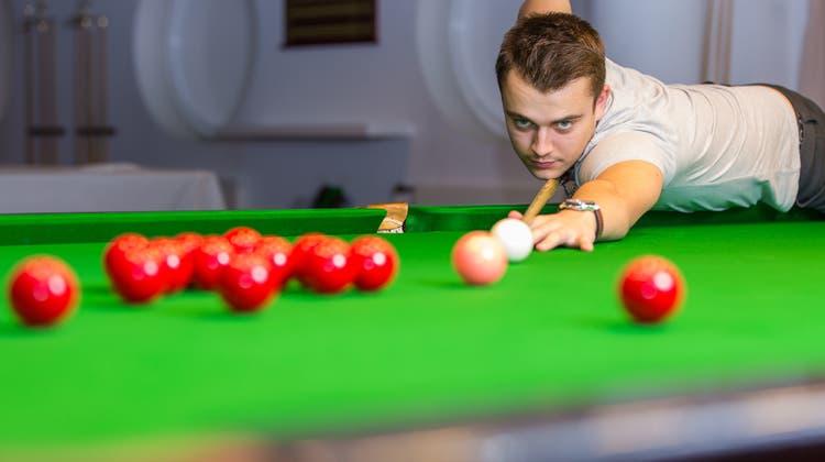 Er sorgte für Schweizer Premiere: Zieht der Fricktaler Snookerspieler nun sogar in den WM-Achtelfinal ein?