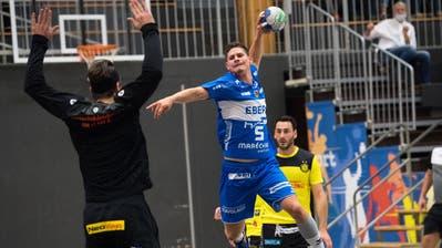 Levin Wanner steuert drei Treffer zum Sieg des HC Kriens-Luzern bei. (Bild: Eveline Beerkircher (Kriens, 10. Oktober 2020))