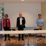 Von links: Rita Fasler (Geschäftsleiterin Verein Palliativ Zug), Roland Kunz, (Geriater, Chefarzt Waidspital Zürich) und Rosetta Rosamilia (Präsidentin Verein Hospiz Zug) im Siehbachsaal. (Bild:Daniela von Jüchen/PD (Zug, 10. Oktober 2020))