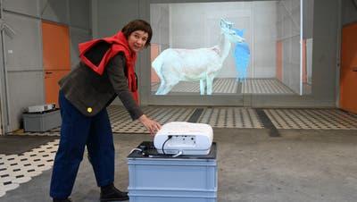 Now 20 in der Turbine Giswil. Auch wenn sie von der Jury nicht ausgewählt wurde: Die Emmetterin Brigitta Würsch (Bild)  zieht das Publikum mit ihren in die Turbine geholten Hirschen unglaublich an. (Bild: Romano Cuonz (Giswil, 9.Oktober 2020))
