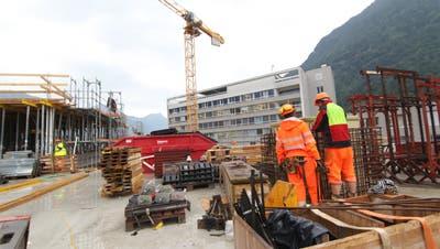 Viele Arbeitslose gibt es in Uri bei Hilfskräften auf dem Bau. (Bild: Florian Arnold (Altdorf, 24. Juli 2020))