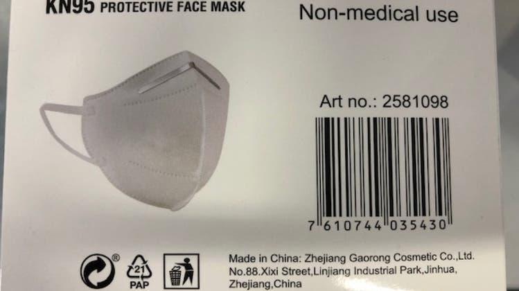 Erneut «KN95»-Maske wegen ungenügender Schutzwirkung zurückgerufen