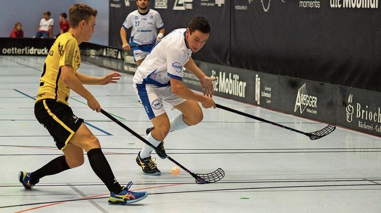 Die Eschenbacher Unihockeyaner führen gegen Uri ein Spektakel auf