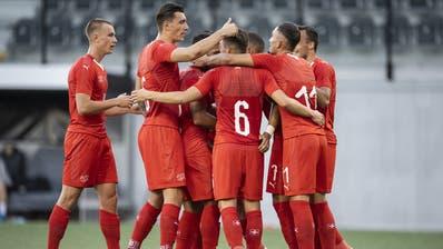 Haben in der Kampagne viel zu jubeln: Die Schweizer U21-Equipe. (Bild: Keystone)